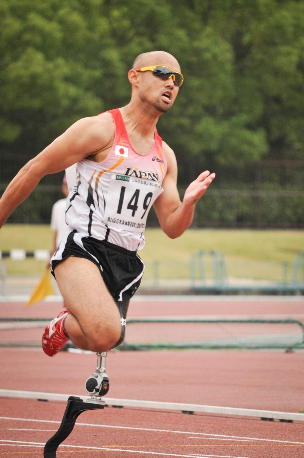 男子4×100mリレー、第4走者の山本篤選手