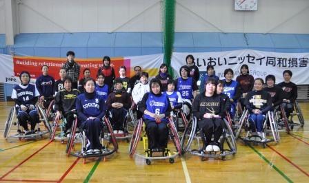 日本代表選考の合宿に参加した選手たち。この中から国際大会に出場する12人が選ばれる