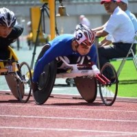 男子1500m(T54) 樋口政幸選手(写真右)、鈴木朋樹選手(写真左)