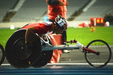 5000m決勝 小雨の中を走る樋口政幸選手