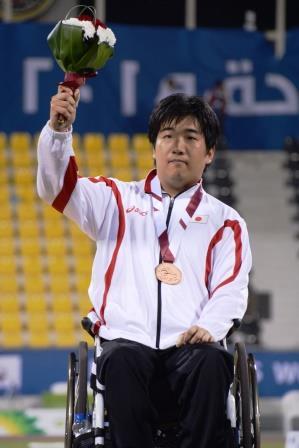 銅メダルを獲得した佐藤選手