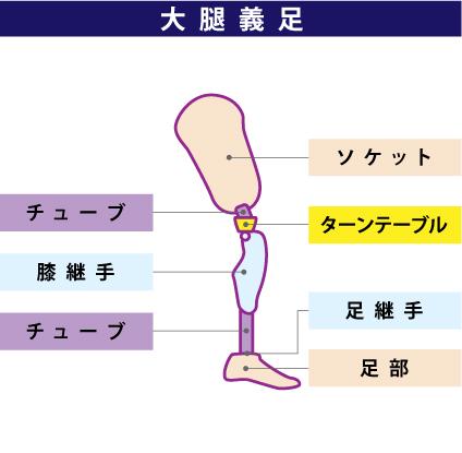 大腿義足の構造