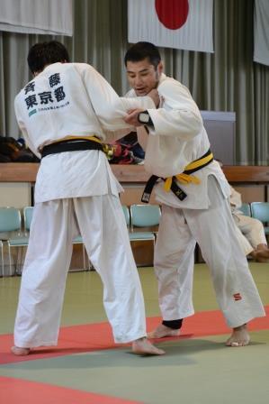 男子66kg級 藤本聰選手(写真右)