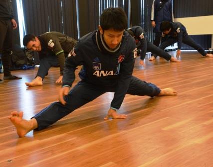 合宿で学んだことを、日頃のトレーニングで意識するという川村。体の細かい動き一つにこだわっている。