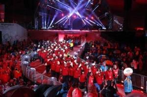 3月18日(土)オーストリアのシュラトミングで 行われた開催式にて、入場行進をしている日本選手団
