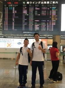 パラジュニア世界陸上が開催されるスイスへ向けて旅立つ、反町公紀選手と関口紘樹さん