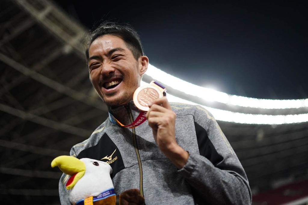 走り幅跳び銅メダルの芦田