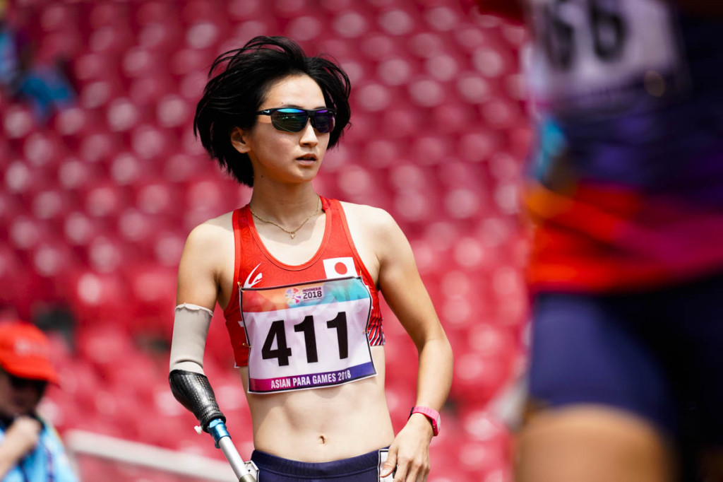 女子(T47)重本沙絵選手