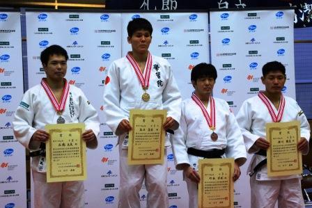 男子73kg級は、永井が優勝