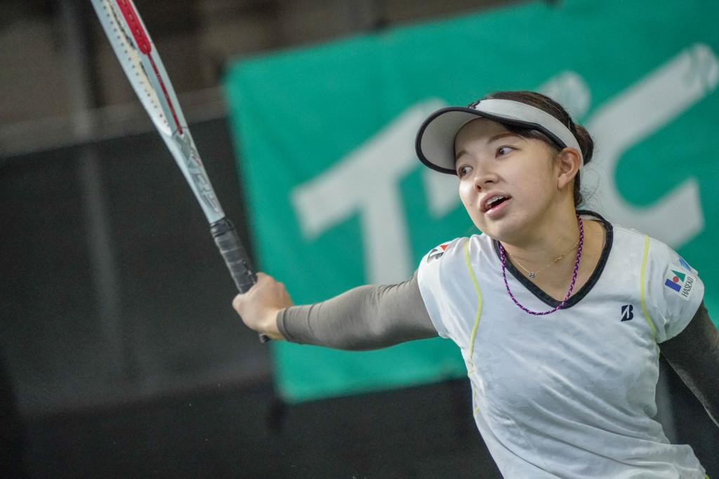 田中愛美選手。積極的なプレーを見せるも一歩及ばず