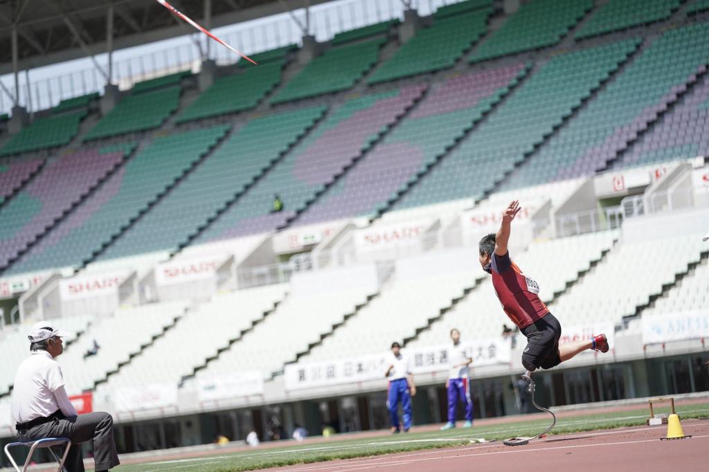 やり投げ(男子F63) 眞野雄輝選手 43m21 日本新記録
