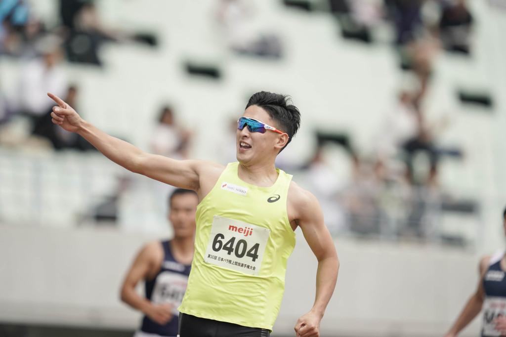 日本パラ陸上競技選手権大会(6月2日) 100m(男子T64) 井谷俊介選手 11秒70 大会新記録