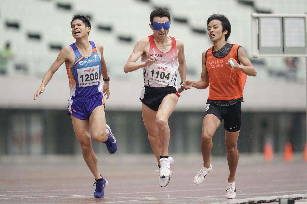 日本パラ陸上競技選手権大会(6月2日) 1500m(男子T11) 和田伸也選手 4分13秒41 日本新記録 ガイド長谷部匠
