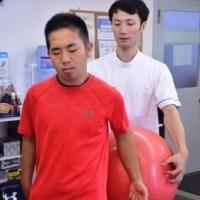 反町公紀選手(脳梗塞リハビリセンター大宮にて撮影、2018年8月)