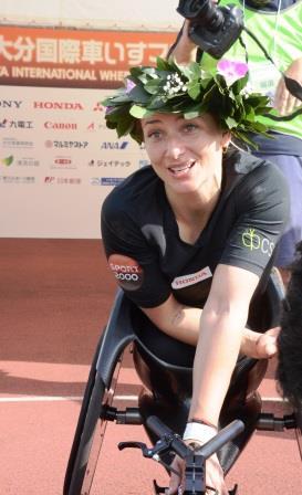 マラソン女子、世界記録を更新したマニュエラ・シャー選手