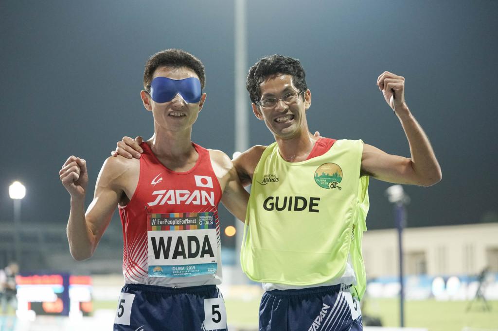 男子T11 1500m決勝 和田伸也選手、中田崇志ガイド 4位