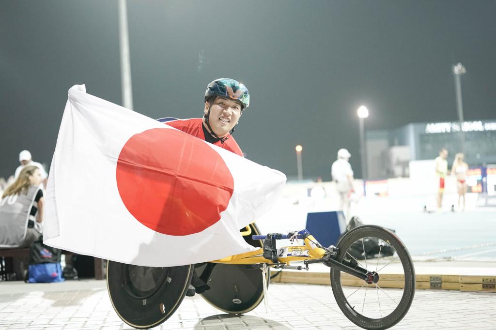 男子T52・400m金メダルの佐藤